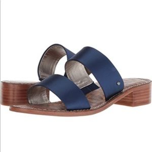 Sam Edelman Jeni Block Heel Sandal-Navy